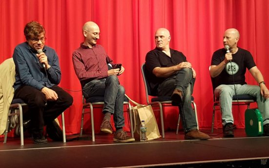 (L-R) Mark Ayres, Paul Vanezis, Peter Crocker, Steve Roberts [Richard Harris]