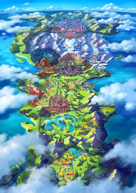 Pokemon Sword and Shield Region
