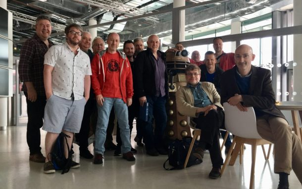 The Doctor Who Blu-ray core team, and friend [Steve Roberts]